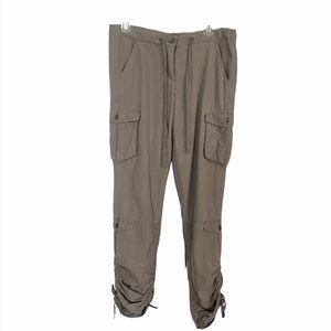 Da-Nang Cargo Silk Blend Cargo Pants
